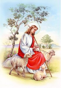 756a46cf34 Jesus the shepherd - ArtHouseDesign - Drawings   Illustration ...