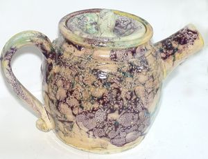 Marbled Purple Teapot