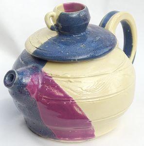 Teapot with teacup finial