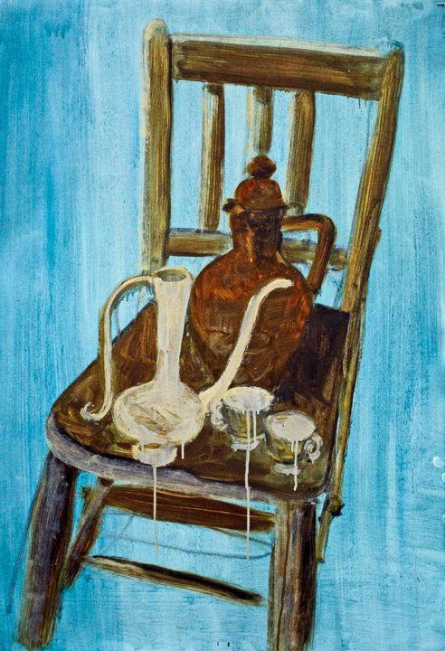 Still life on chair in sky - Keren Souzakohn