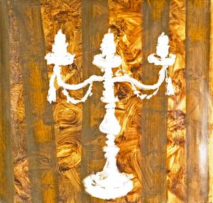 Ghost Candelabra on gold