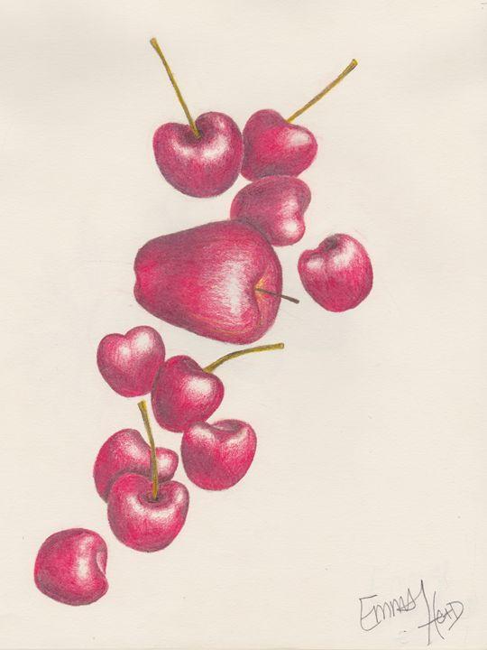 Sea of Red Fruit - Emma's Art Gallery