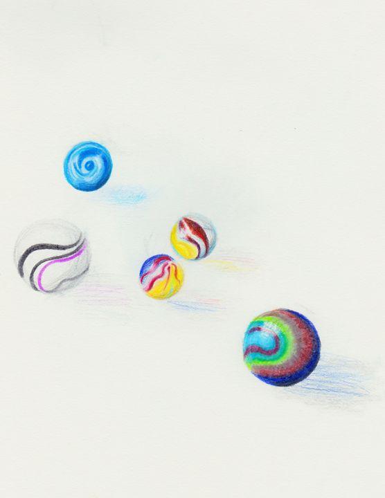 Losing My Marbles - Emma's Art Gallery