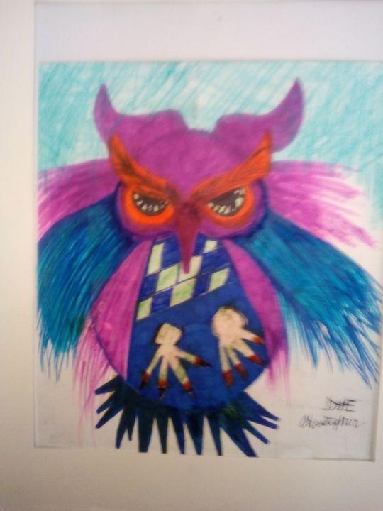 Owl original copy signed - Christopher Dye