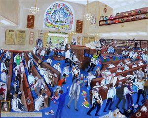 Pepys Synagogue visit - modern twist - BusyArt