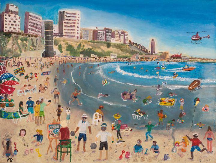 Busy on the Beach - Netanya - BusyArt