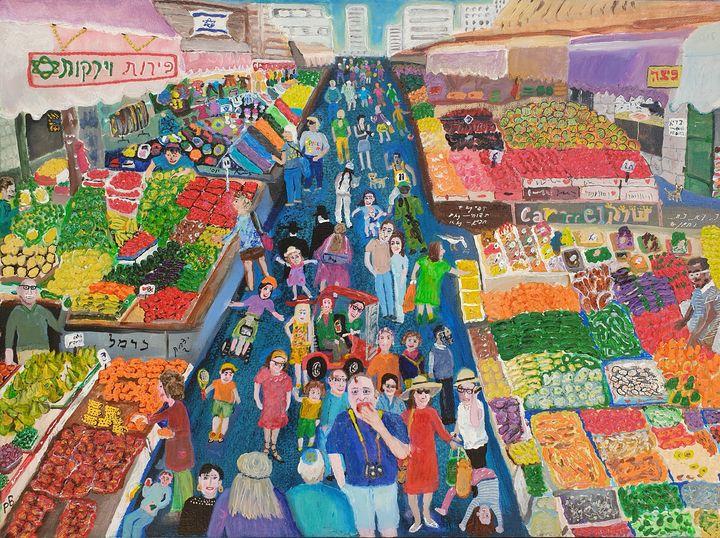 Beautiful colours of Carmel Market - BusyArt