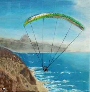 Paragliding on Israels coastline