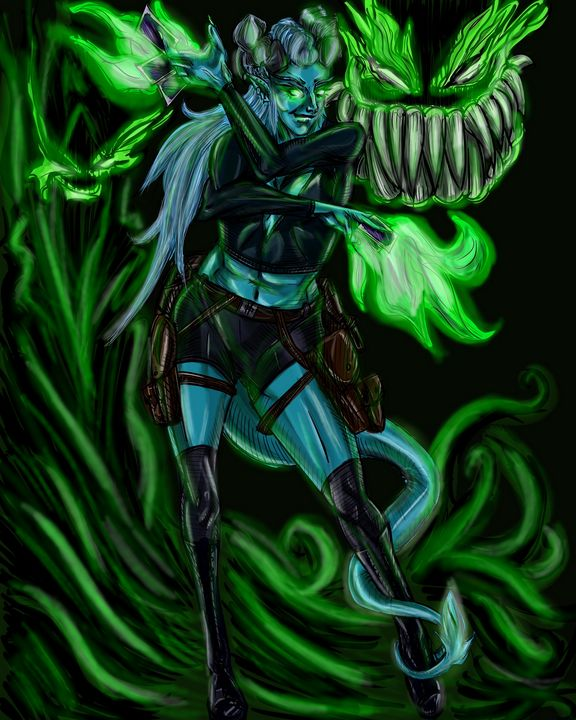 Tiefling Mage - Dark Wolf Creative