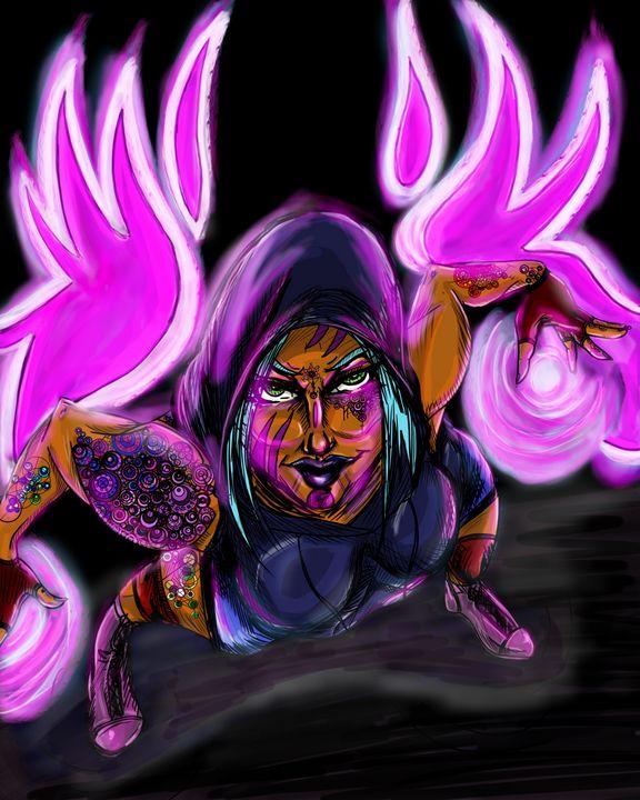 Paint is glow - Dark Wolf Creative