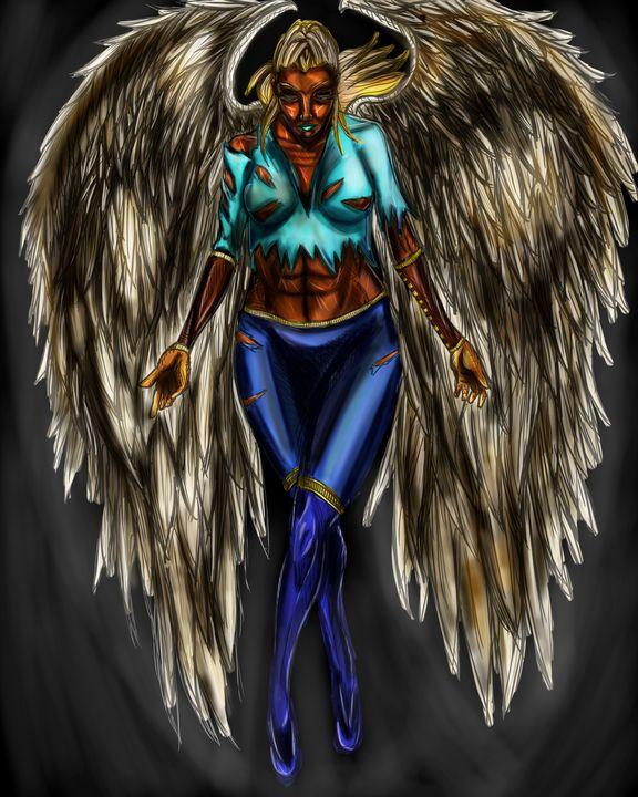 Angel Warrior - Dark Wolf Creative