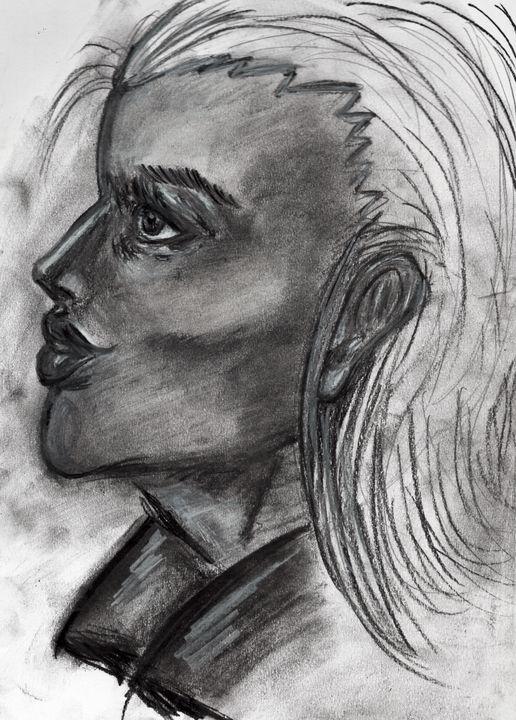 Charcoal in Portrait - Dark Wolf Creative