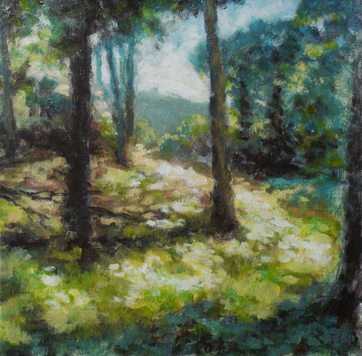Sunny woodland, Grizedale - Gudpaint