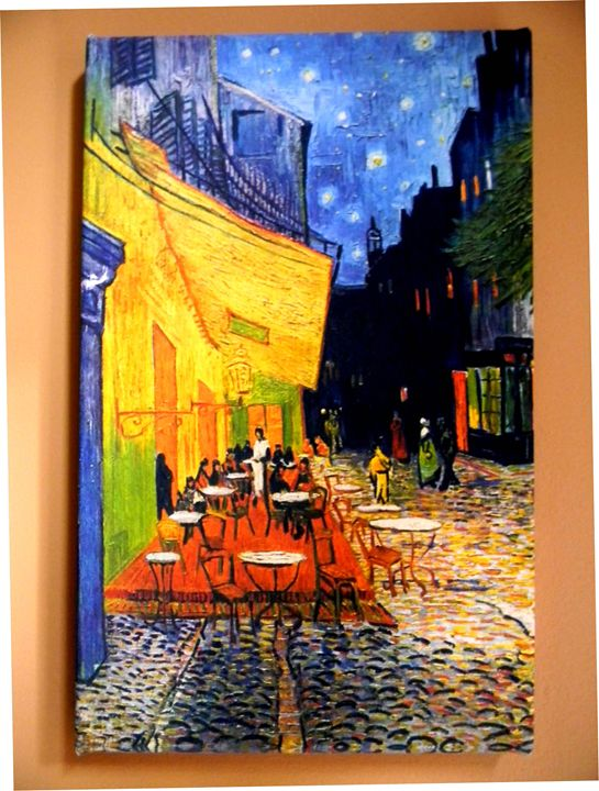 Cafe Terrace at Night by Van Gogh - Chameleon Canvas Art