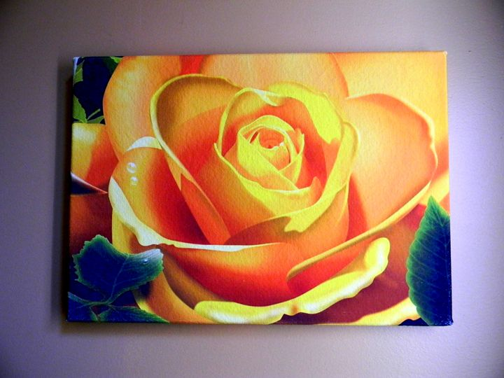 A Yellow Rose_Canvas Giclee Print - Chameleon Canvas Art