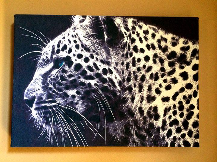 Black/White Tiger - Chameleon Canvas Art
