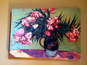 Oleanders and Books by Van Gogh