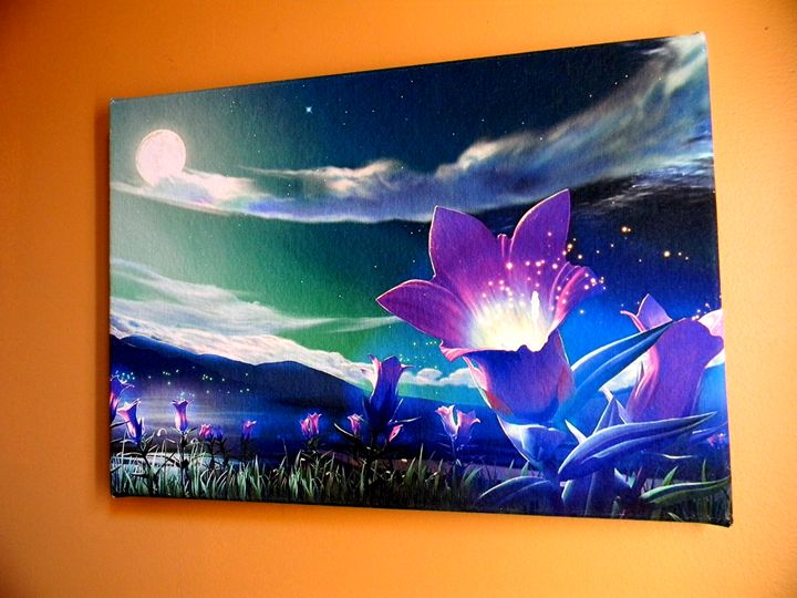 Landscape_Flowers - Chameleon Canvas Art