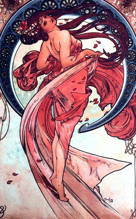 Dance by Alphonse Mucha - Chameleon Canvas Art