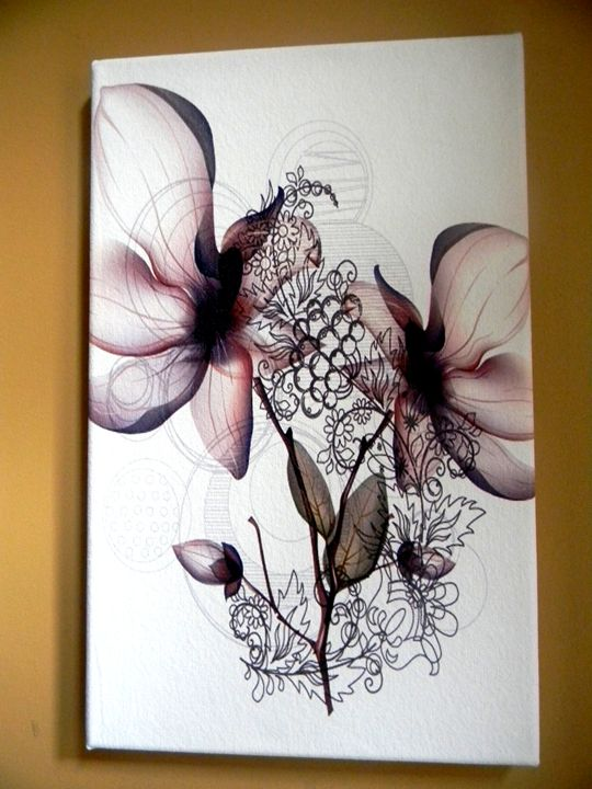 Abstract Flowers_Canvas Giclee Print - Chameleon Canvas Art