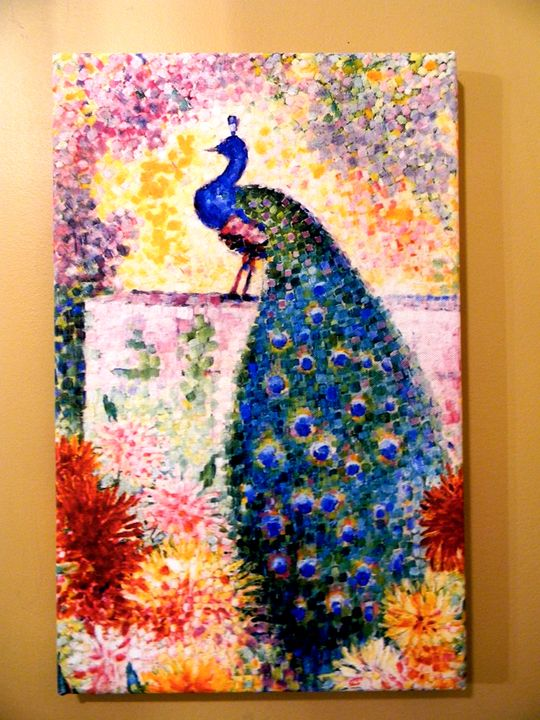A Peacock by Jean Metzinger - Chameleon Canvas Art