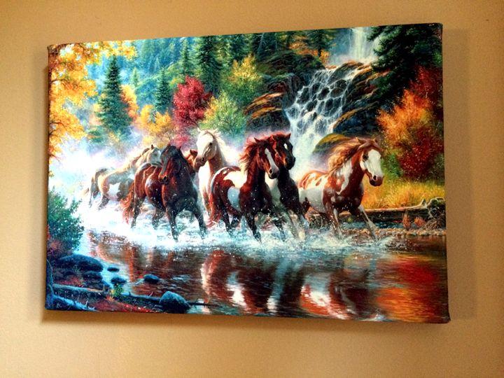 Horses - Chameleon Canvas Art