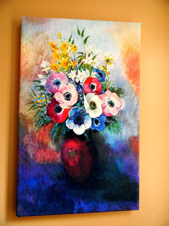 Anemones by Odilon Redon - Chameleon Canvas Art