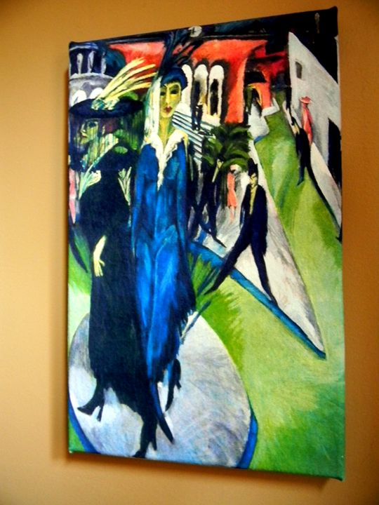 Postdamerplatz by Ernst Kirchner - Chameleon Canvas Art
