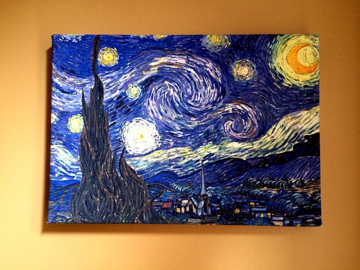 The Starry Night by Van Gogh - Chameleon Canvas Art
