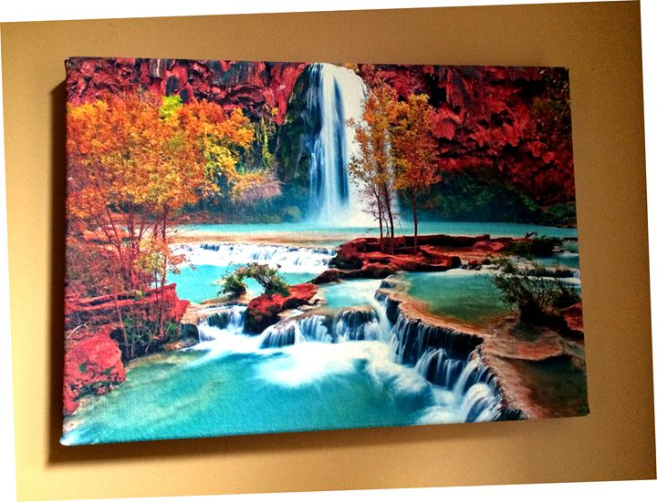 Waterfall/Landscape - Chameleon Canvas Art