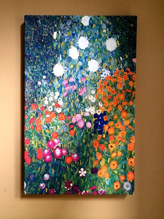 Flower Garden by Gustav Klimt - Chameleon Canvas Art