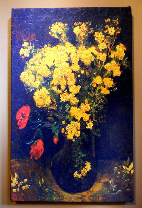 Poppy Flowers by Vincent van Gogh - Chameleon Canvas Art