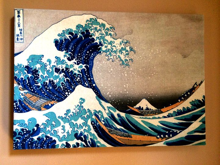 The Great Wave of Kanagawa by Hokusa - Chameleon Canvas Art