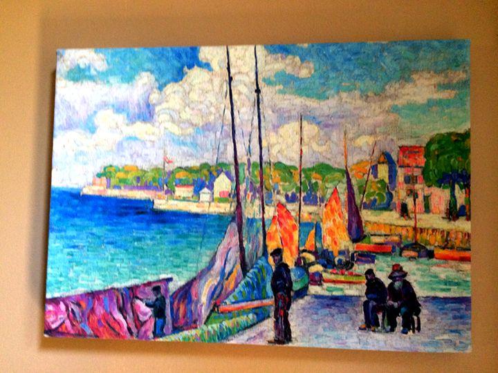 Petit port by Jean Metzinger - Chameleon Canvas Art