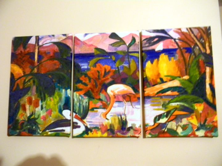Paysage (3psc) by Jean Metzinger - Chameleon Canvas Art