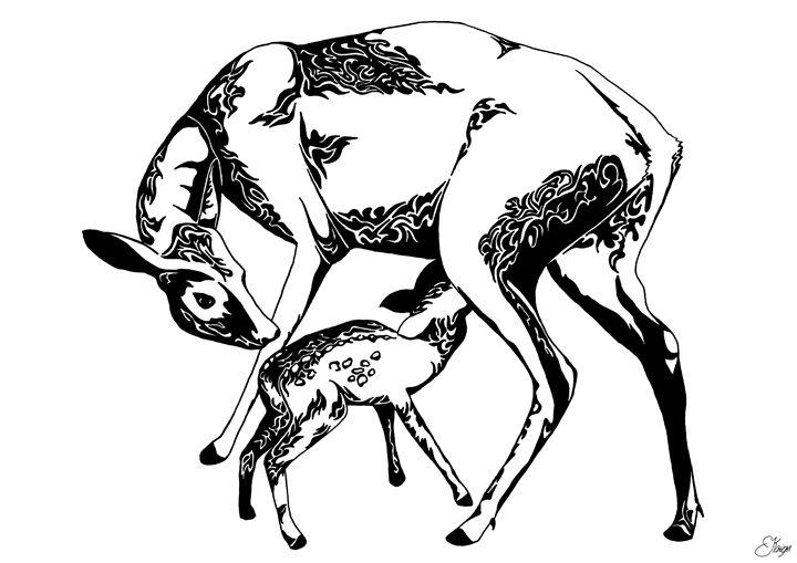 Deers mother and child - KRIYA OCEANS
