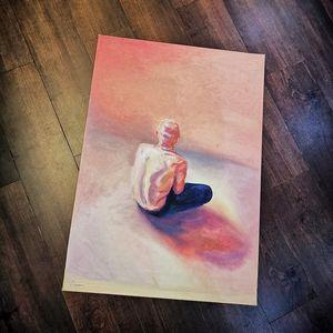 Meditating in pink