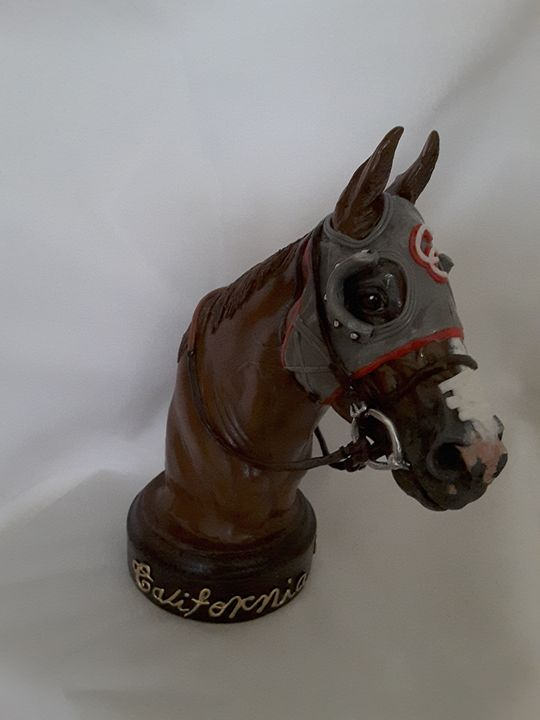 Sculpture Bust of California Chrome - Angel Lovera