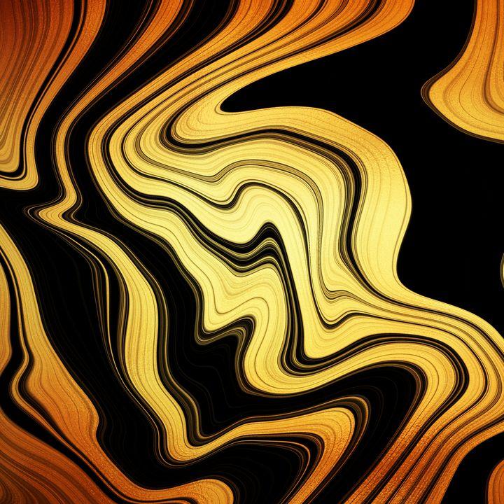 golden and black painting - Maria Elisabetta C.