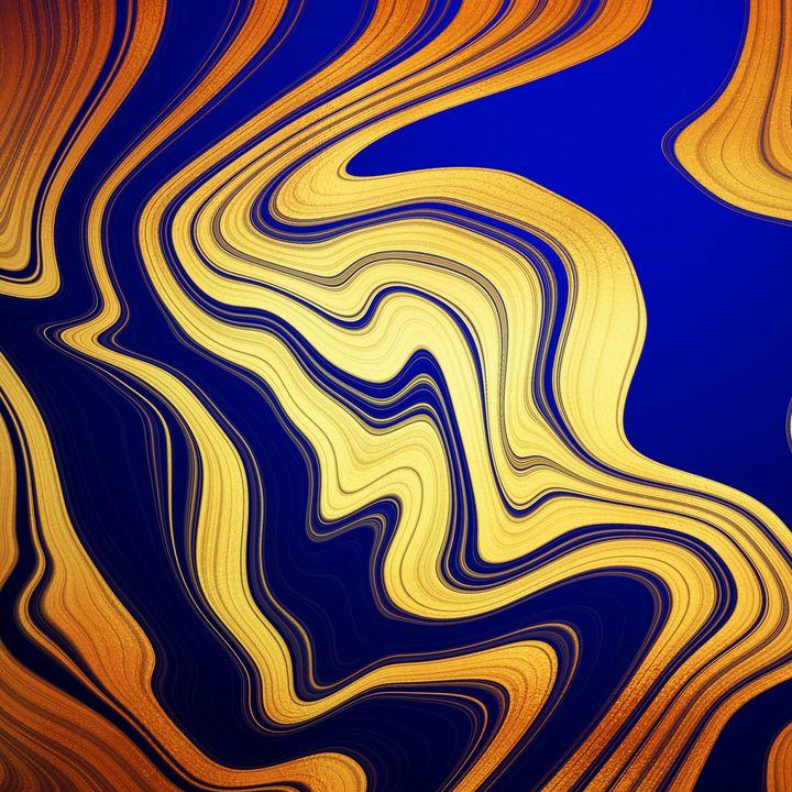 blue and gold texture - Maria Elisabetta C.