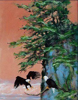 Eagles Hoonah Alaska - artlegacy