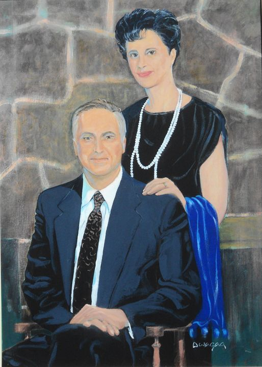 Artist and Wife Dorothy SelfPortrait - artlegacy