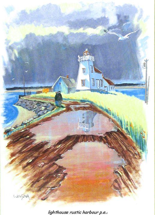 Lighthouse Rustic Harbour PEI - artlegacy