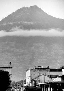 Volcano Auga towers above Antigua