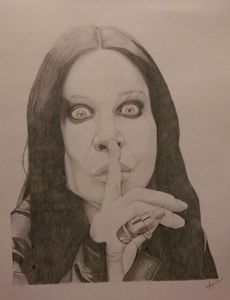 Sketch of Ozzy Osbourne