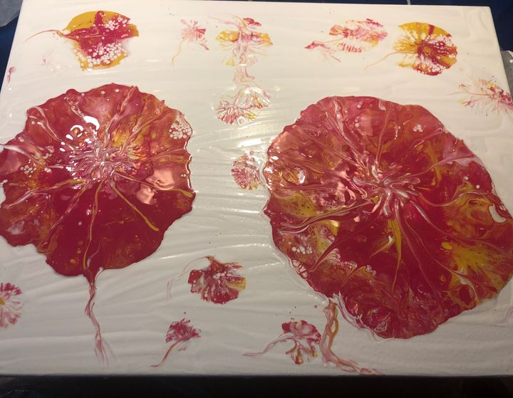 Red poppies in bloom - Southern Creations by Bobbie