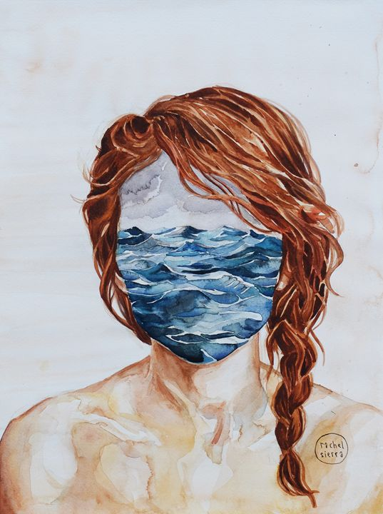 Her Mind & the Sea - Rachel Sierra Art