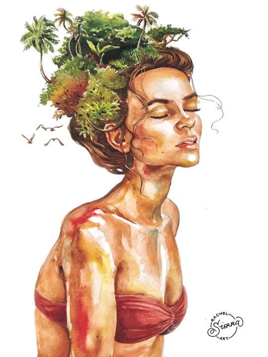 Ella y la Isla - Rachel Sierra Art