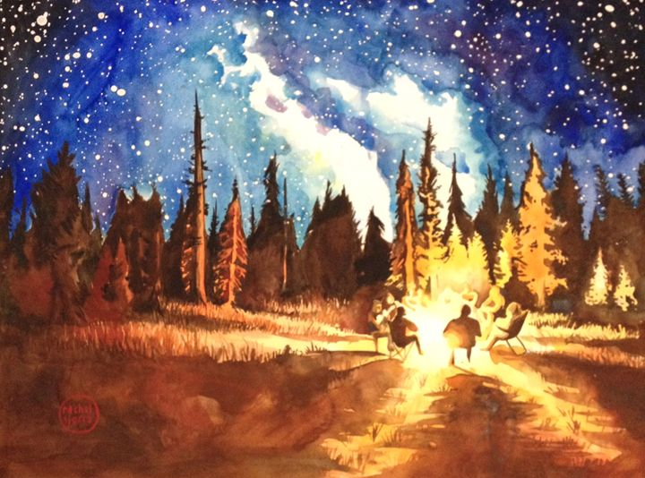 Camp Vibes - Rachel Sierra Art
