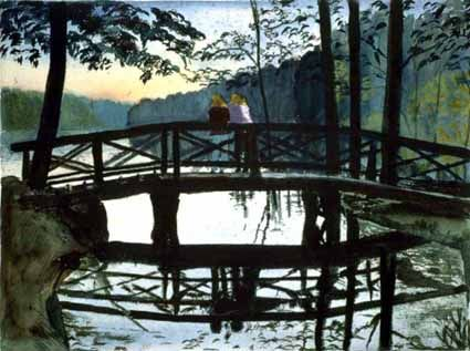 Bridge at the Lake of Grunewald - Heinz Sterzenbach